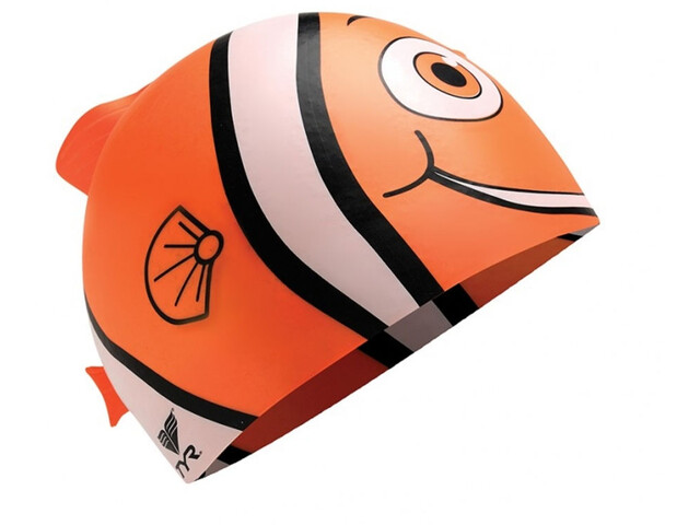 TYR Charactyrs Happy Fish Swimming Cap Kinder orange